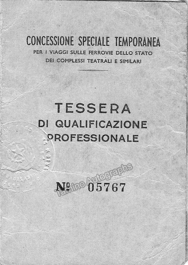Gigli, Beniamino - Signed and Stamped Passport