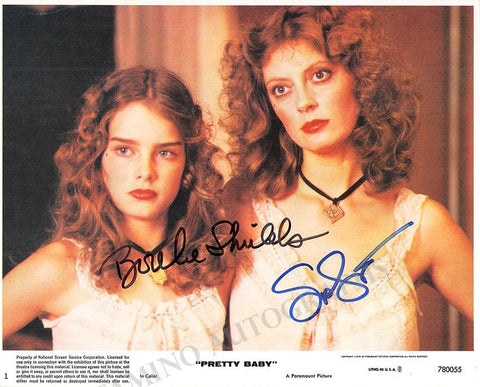 "Shields, Brook - Sarandon, Susan - Double Signed Photo in ""Pretty Baby"""