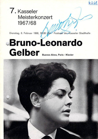 Gelber, Bruno Leonard - Signed Program Kassel, Germany 1968