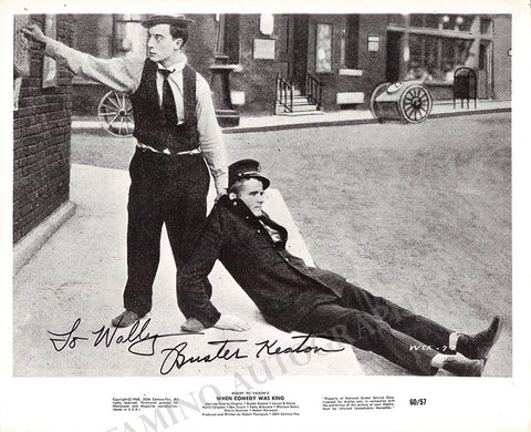"Keaton, Buster - Signed Photo in ""When Comedy was King"""