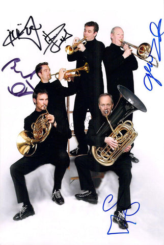 Canadian Brass Quintet - Large Photograph Signed by All