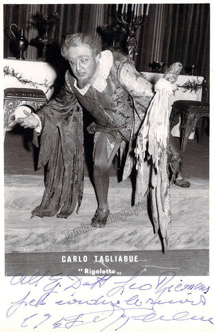 Tagliabue, Carlo - Signed Photo in Rigoletto