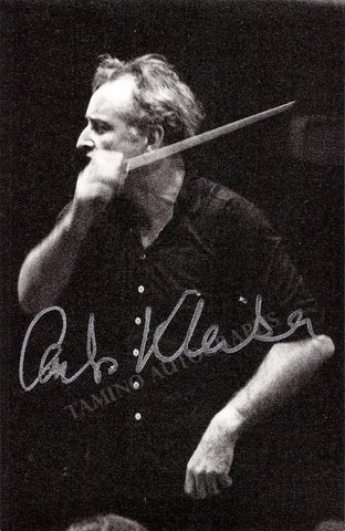 Kleiber, Carlos - Signed Photo Conducting