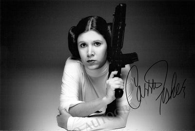 Fischer, Carrie - Signed Photo in Star Wars
