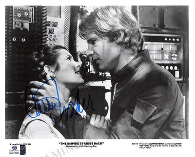 "Fischer, Carrie - Signed Photo in ""The Empire Strikes Back"""