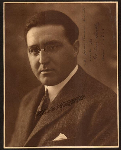 Sarobe, Celestino - Large Signed Photo 1925