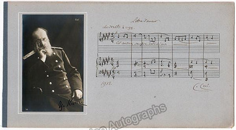 Cui, Cesar - Autograph Music Quote Signed with Photo
