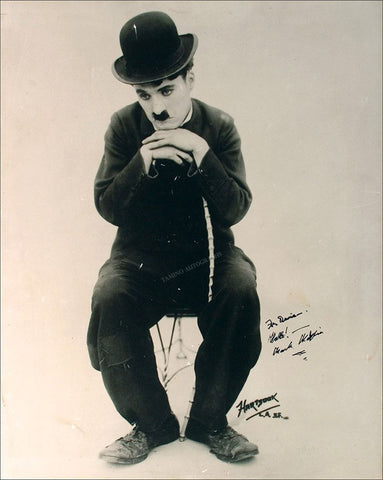 Chaplin, Charlie - Large Signed Photo