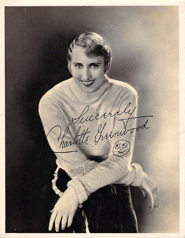 Greenwood, Charlotte - Signed Photograph