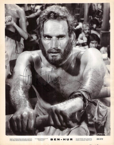 "Heston, Charlton - Signed Photo in ""Ben Hur"""