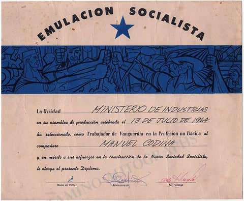 Guevara, Ernesto (Che) - Signed Document 1964