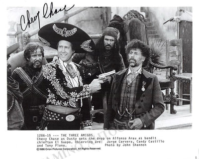 "Chase, Chevy - Signed Photo in ""The Three Amigos"""