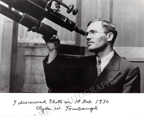 Tombaugh, Clyde W. - Signed Photo