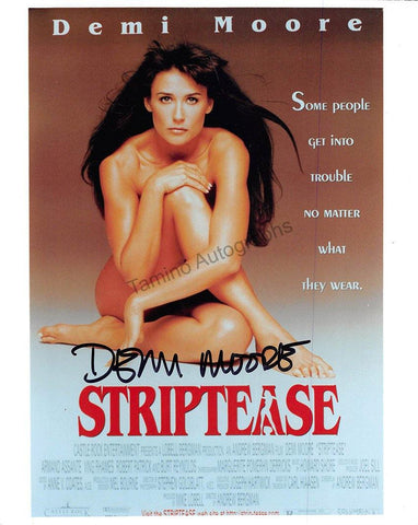 "Moore, Demi - Signed Photograph in ""Striptease"""