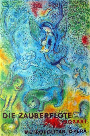 Marc Chagall - The Magic Flute (Die Zauberflote) 1966 Mourlot Lithograph Poster