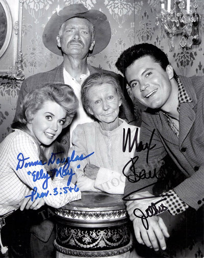"Douglas, Donna - Baer, Max - Double Signed Photo in ""The Beverly Hillbillies"""