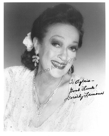 Lamour, Dorothy - Signed Photo
