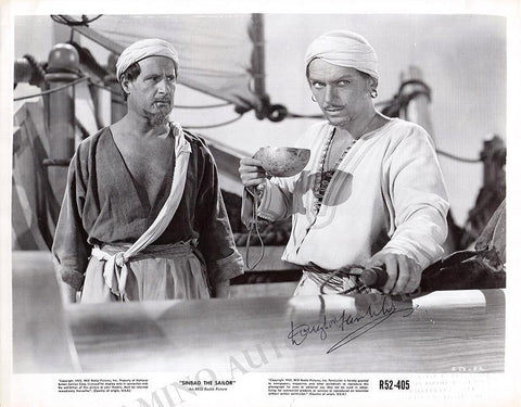 "Fairbanks, Douglas Jr. - Signed Photograph in ""Simbad The Sailor"""