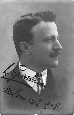 Garbin, Edoardo - Signed Photograph 1909