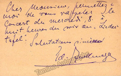Zuckmayer, Eduard - Autograph Note Signed 1924