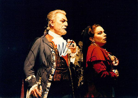 Bruson, Renato - Coelho, Elaine - Double Signed Photo in Tosca