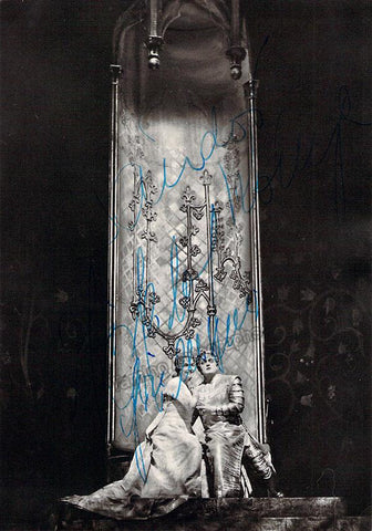 Grummer, Elisabeth - Konya, Sandor - Double Signed Photo in Lohengrin