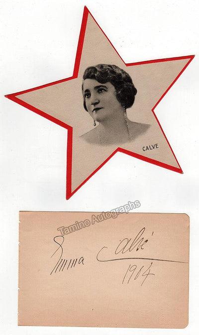 Calve, Emma - Signed Album Page 1904 & Photo