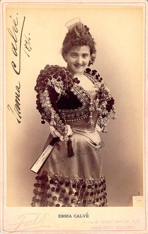 Calve, Emma - Signed Cabinet Photo in Carmen