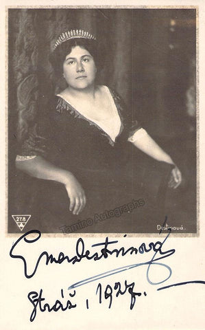 Destinn, Emmy - Signed Photo as Tosca 1927