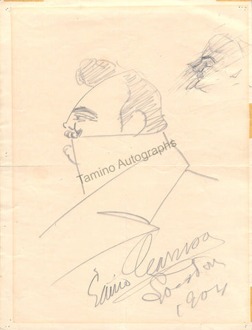Caruso, Enrico - Signed Self Caricature 1904