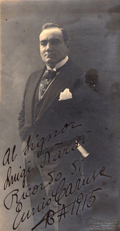 Caruso, Enrico - Signed Photo 1915