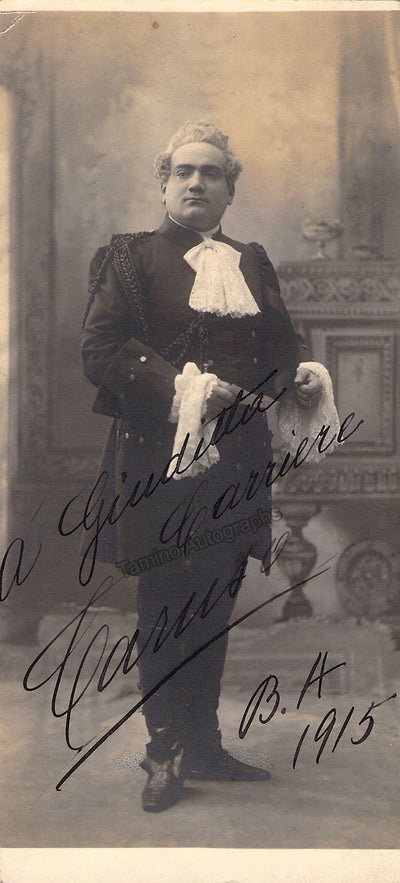 Caruso, Enrico - Signed Photo in Manon 1915