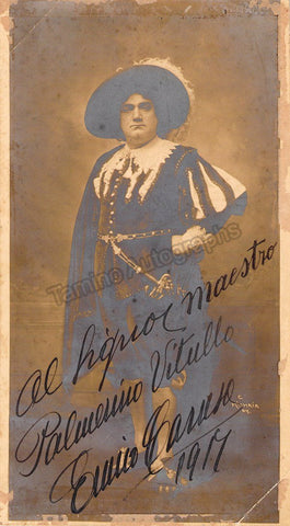 Caruso, Enrico - Signed Photo in Role 1917