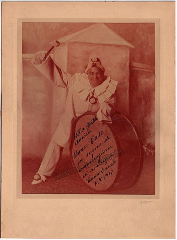 Caruso, Enrico - Large Signed Photo in Pagliacci!