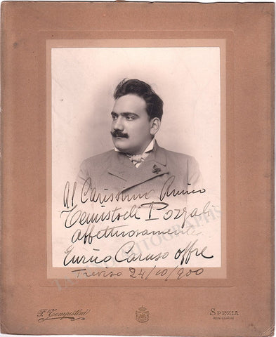 Caruso, Enrico - Large Signed Photo 1900