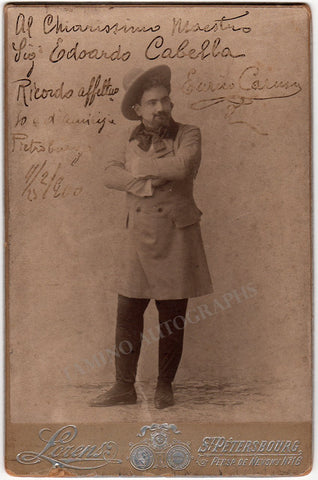 Caruso, Enrico - Signed Photo in La Boheme