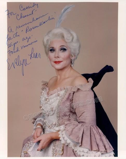 LEAR, Evelyn (Various Autographs)