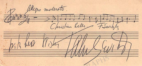 Sevitzky, Fabian - Autograph Music Quote Signed
