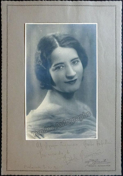 Campiña, Fidela - Large Signed Photo 1931