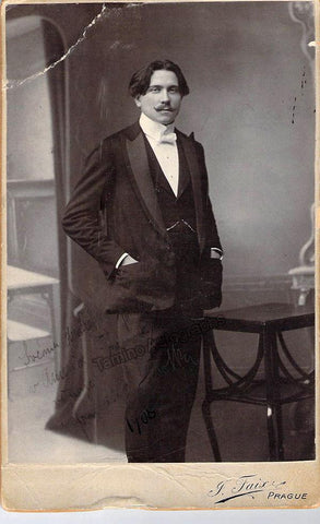 Lhotka, Frank - Signed Cabinet Photo 1908