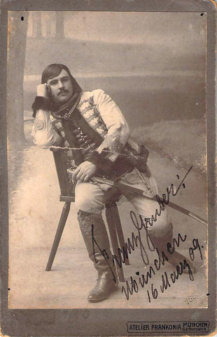 Gruber, Franz - Signed Cabinet Photo 1909