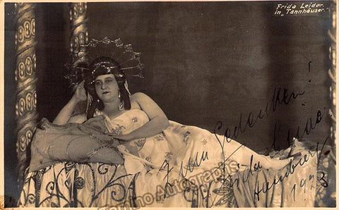 Leider, Frida - Signed Photo in Tannhauser 1923