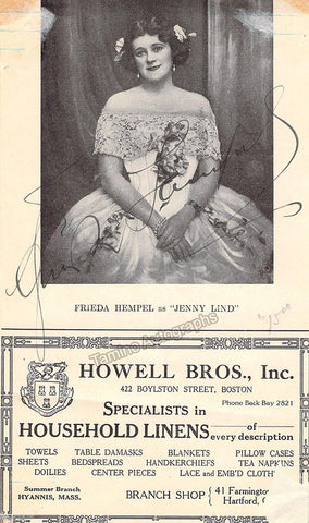 Hempel, Frieda - Signed Page Program
