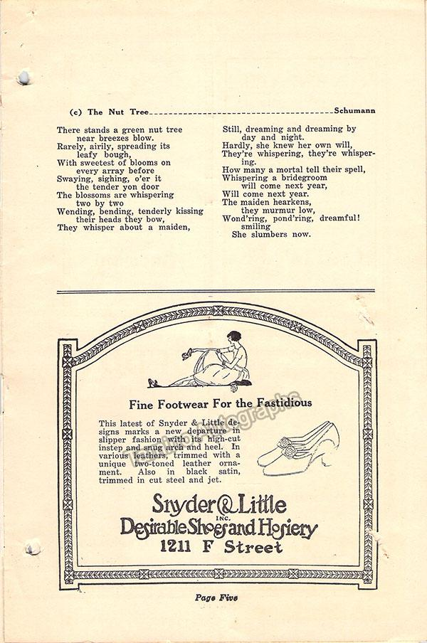Hempel, Frieda - Signed Concert Program