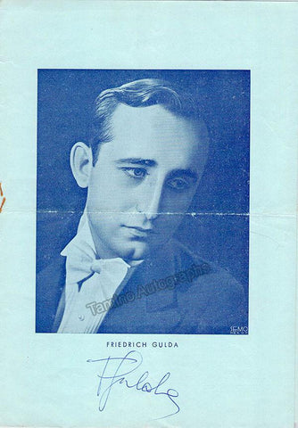 Gulda, Friedrich - Signed Program Lisbon 1952