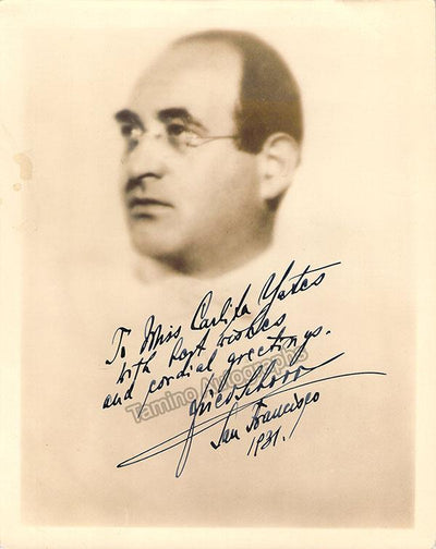 Schorr, Friedrich - Signed Photo 1931