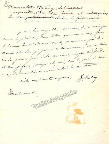 Halevy, Fromental - Autograph Letter Signed