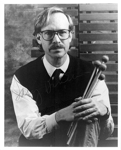 Burton, Gary - Signed Photo with Instrument