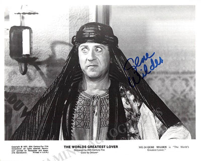 "Wilder, Gene - Signed Photo in ""The Worlds Greatest Lover"""