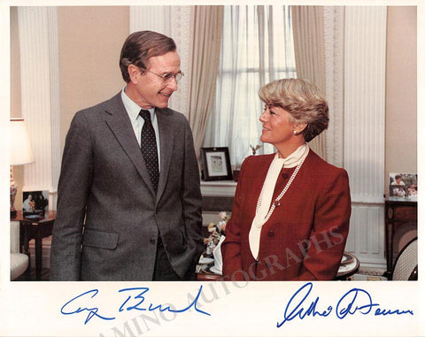Bush, George H.W. - Ferraro, Geraldine - Double Signed Photo